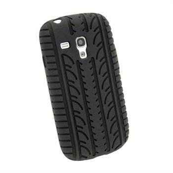 Samsung Galaxy S3 Mini i8190 iGadgitz Tyre Tread Silicone Case Black