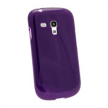 Samsung Galaxy S3 Mini i890 iGadgitz Glossy TPU Case Purppura