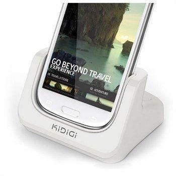 Samsung Galaxy S3 i9300 KiDiGi Cover-Mate USB Desktop Charger White