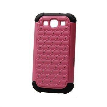 Samsung Galaxy S3 i9300 Konkis Bling Diamond Suojakuori Vaaleanpunainen