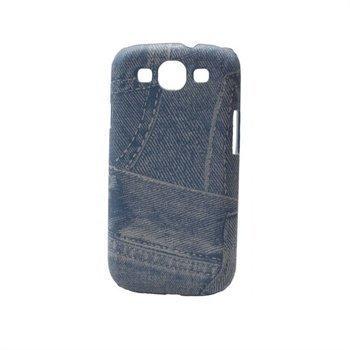 Samsung Galaxy S3 i9300 Konkis Demin Jeans Suojakuori Vaaleansininen