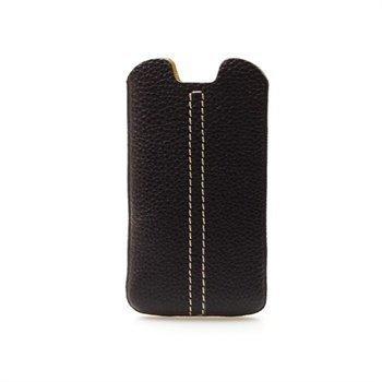 Samsung Galaxy S3 i9300 Konkis Double Stitch Nahkakotelo Musta / Keltainen
