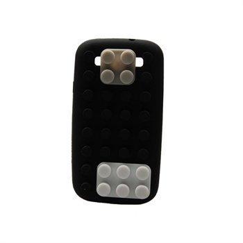 Samsung Galaxy S3 i9300 Konkis Palikka Silikonikotelo Musta