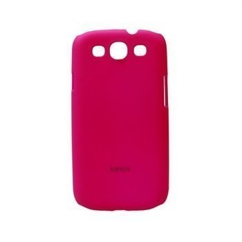 Samsung Galaxy S3 i9300 Konkis Rubber Taustakuori Tumma Pinkki