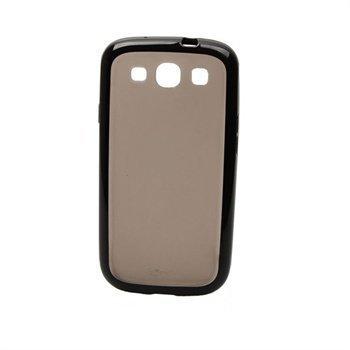 Samsung Galaxy S3 i9300 Konkis Smoothie TPU-Suojakuori Läpinäkyvä Musta