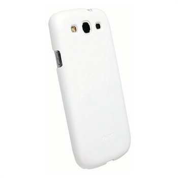Samsung Galaxy S3 i9300 Krusell BioCover Suojakuori Valkoinen