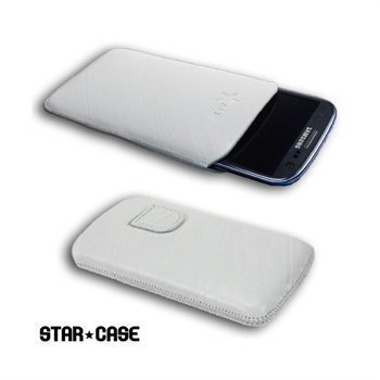Samsung Galaxy S3 i9300 StarCase Linea Leather Case White