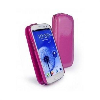 Samsung Galaxy S3 i9300 Tuff-Luv Tuff-Grip Shiny Nahkakotelo Purppura