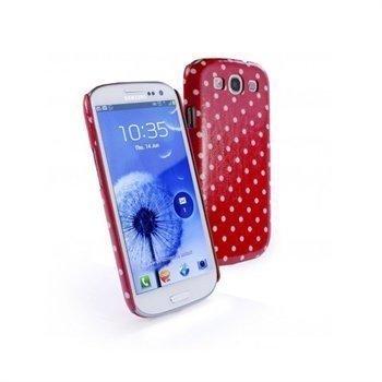 Samsung Galaxy S3 i9300 Tuff-Luv Tuff-Shell Polka Hot Suojakuori Vadelma