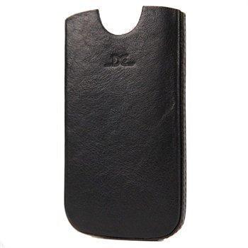 Samsung Galaxy S3 i9300 i9305 DC Chest Nahkakotelo Musta