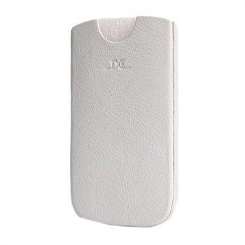 Samsung Galaxy S3 i9300 i9305 DC Chest Nahkakotelo Valkoinen