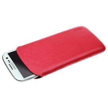 Samsung Galaxy S3 i9300 iCandy Pulltab Nahkakotelo Punainen