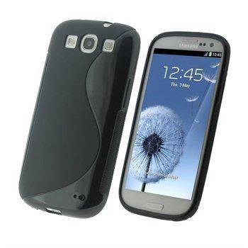 Samsung Galaxy S3 i9300 iGadgitz Dual Tone TPU-Suojakuori Musta