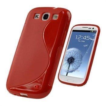 Samsung Galaxy S3 i9300 iGadgitz Dual Tone TPU-Suojakuori Punainen