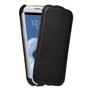 Samsung Galaxy S3 i9300 iGadgitz Flip Nahkakotelo Musta