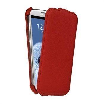 Samsung Galaxy S3 i9300 iGadgitz Flip Nahkakotelo Punainen