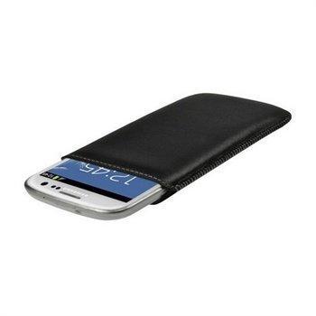 Samsung Galaxy S3 i9300 iGadgitz Nahkakotelo Musta