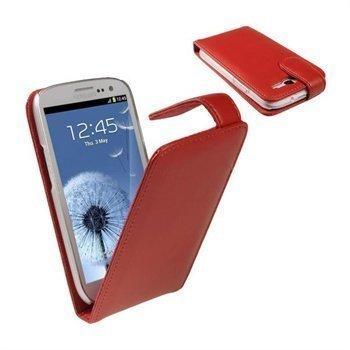 Samsung Galaxy S3 i9300 iGadgitz Nahkakotelo Punainen
