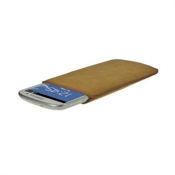 Samsung Galaxy S3 i9300 iGadgitz Nahkakotelo Ruskea