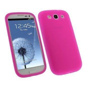 Samsung Galaxy S3 i9300 iGadgitz Silikonikotelo Pinkki