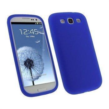 Samsung Galaxy S3 i9300 iGadgitz Silikonikotelo Sininen
