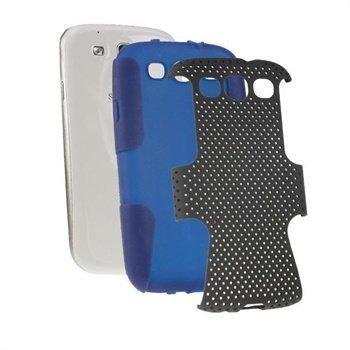 Samsung Galaxy S3 i9300 iGadgitz Suojakuori Sininen / Musta
