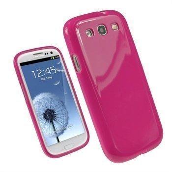 Samsung Galaxy S3 i9300 iGadgitz TPU-Suojakuori Kuuma Pinkki