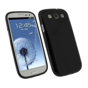 Samsung Galaxy S3 i9300 iGadgitz TPU-Suojakuori Musta