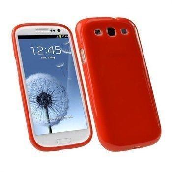 Samsung Galaxy S3 i9300 iGadgitz TPU-Suojakuori Punainen