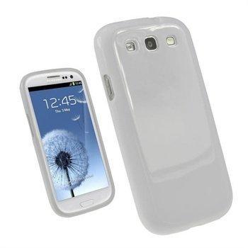 Samsung Galaxy S3 i9300 iGadgitz TPU-Suojakuori Valkoinen