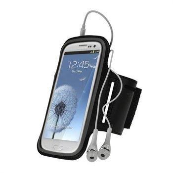 Samsung Galaxy S3 i9300 iGadgitz Urheilukotelo Käsivarteen Musta
