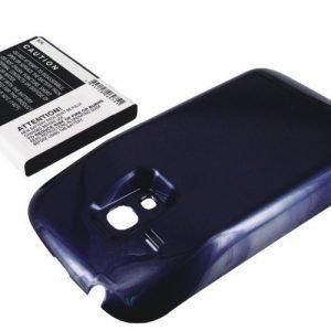 Samsung Galaxy S3 mini Galaxy SIII mini GT-I8190 tehoakku 3000 mAh laajennetulla takakannella