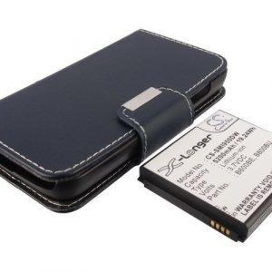 Samsung Galaxy S4 GT-I9500 GT-i9505 akku erillisellä Flip Cover suojalla 5200 mAh