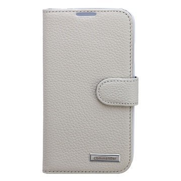 Samsung Galaxy S4 I9500 Commander Book Leather Case Elite White