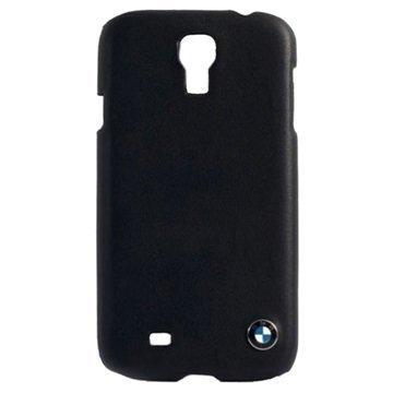 Samsung Galaxy S4 I9500 I9505 BMW Nahkapäällysteinen Kova Suojakuori Musta