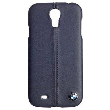 Samsung Galaxy S4 I9500 I9505 BMW Nahkapäällysteinen Kova Suojakuori Tummansininen