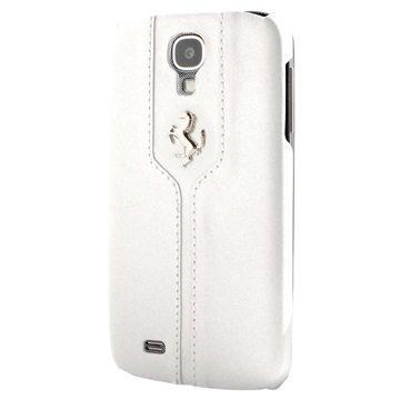 Samsung Galaxy S4 I9500 I9505 Ferrari Monte Carlo Kova Nahkakotelo Valkoinen
