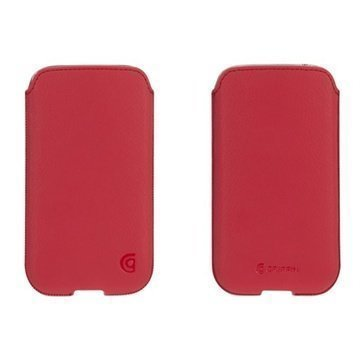 Samsung Galaxy S4 I9500 I9505 Griffin Trend Leather Case Red