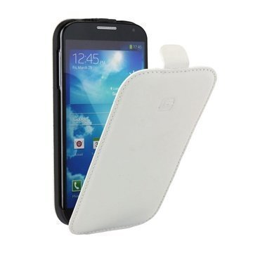 Samsung Galaxy S4 I9500 I9505 Indigo Comfort Flip Læder Taske White