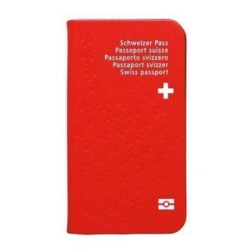 Samsung Galaxy S4 I9500 I9505 Ozaki O!Coat Worldpass Folio Case Passport Switzerland