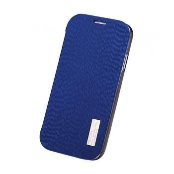Samsung Galaxy S4 I9500 I9505 Rock Elegant Läppäkotelo Sininen