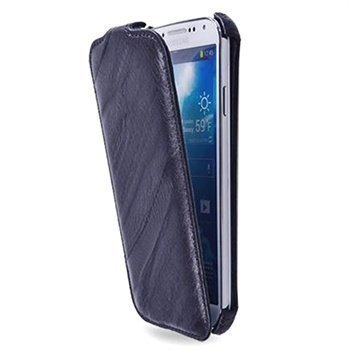 Samsung Galaxy S4 I9500 I9505 Starcase Roma Flip Linea Nahkainen Kotelo Violetti