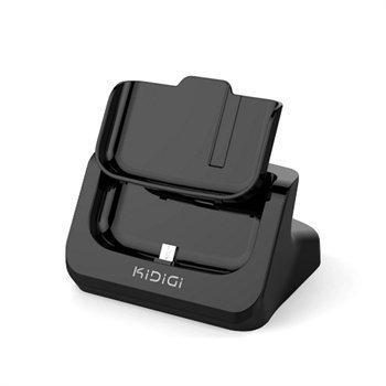 Samsung Galaxy S4 I9500 Kidigi Cover-Mate USB-Pöytälaturi Musta
