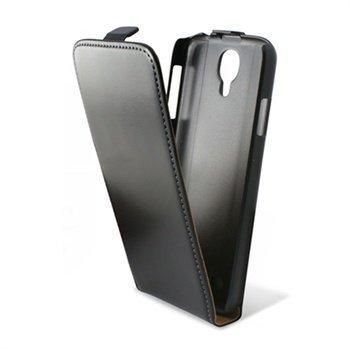 Samsung Galaxy S4 I9500 Ksix Nahkainen Läppäkotelo Musta