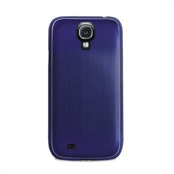 Samsung Galaxy S4 I9500 Puro Metal Effect Case Blue
