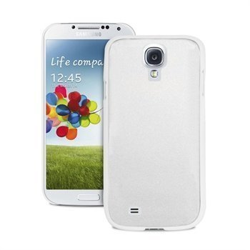 Samsung Galaxy S4 I9500 Puro Metal Effect Case White