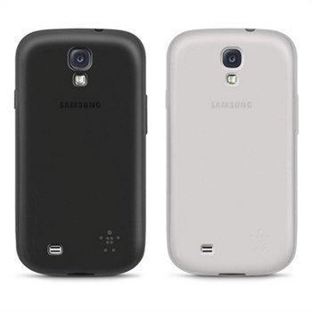 Samsung Galaxy S4 i9500 i9505 Belkin Grip Sheer Matte Kotelosarja Musta / Kirkas