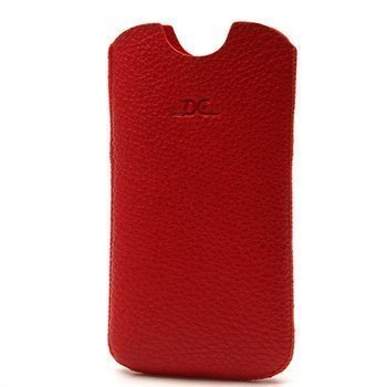 Samsung Galaxy S4 i9500 i9505 DC Slim Guti Nahkakotelo Punainen