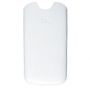 Samsung Galaxy S4 i9500 i9505 DC Slim Guti Nahkakotelo Valkoinen