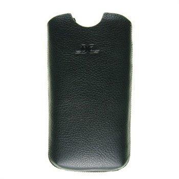 Samsung Galaxy S4 i9500 i9505 DC Slim Montone Nahkakotelo Musta